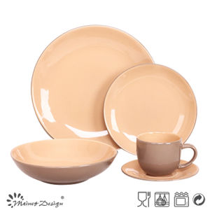High Quality 16PCS 20PCS Ceramic Stoneware Solid Color Glazed Dinner Set pictures & photos