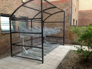 Hot-Dipped Galvanised Two-Tiers Bicycle Storage Rack pictures & photos