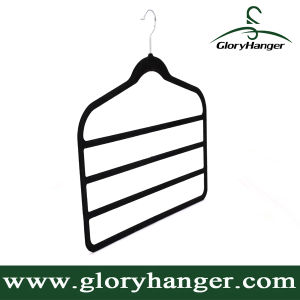 Plastic / Rubber Coated / Velvet Hanger for Towel/Pant/Tie/Scarves (GLPH108) pictures & photos