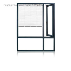 Aluminum Profile Casement Glass Window with Stainless Steel Net (FT-W85) pictures & photos