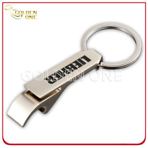 Custom Debossed Color Filling Metal Bottle Opener Keychain pictures & photos