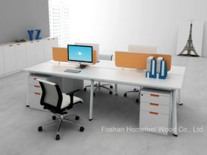 Fashion Design Linear Office Partition L Shape Desk Workstation (HF-YZLB10) pictures & photos