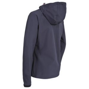 Women Breathable Windproof and Water Resistant Softshell Jacket pictures & photos