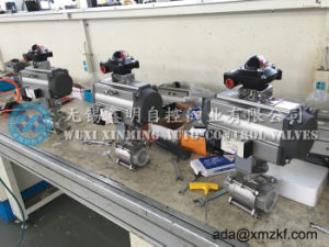 """High Temperature 2"""" Pneumatic 3PC Thread Stainless Steel Ball Valve pictures & photos"""