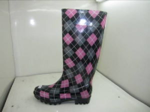 OEM PVC/EVA/Rubber Rain Boots with Printing (24WD) pictures & photos