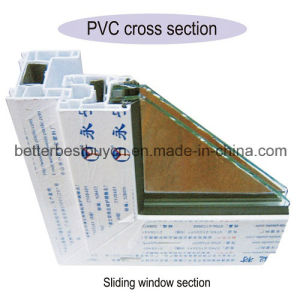 Casement UPVC Plasitc Window with Decorative Strip pictures & photos