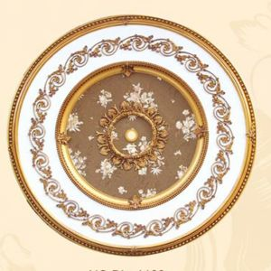 Round Coffee Color Artistic Ceiling Medallion for Construction