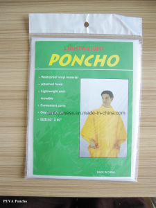 White PEVA Poncho/Waterproof and Windproof/PEVA/Rain Poncho pictures & photos
