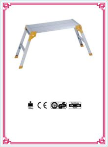 Aluminum Folding Ladder with Yellow Color pictures & photos