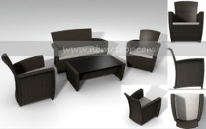 Kd Style Rattan Outdoor Sofa Set with Cushion (MTC-044) pictures & photos