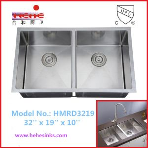 R10 Corner Undermount Handmade Sink, Stainless Steel Kitchen Sink, Handcraft Sink (HMRD3219) pictures & photos