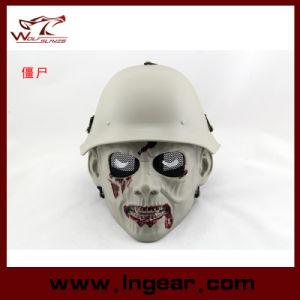 Military DC-13 Desert Tactical Metal Mesh Solider Zombie Black Mask pictures & photos