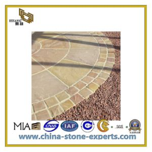 Natural Yellow Sandstone for Wall Tile and Cladding/Facade/Decoration Material (YQC) pictures & photos