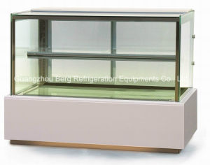 Refrigeration Equipment Cake Refrigerator with Square Glass pictures & photos