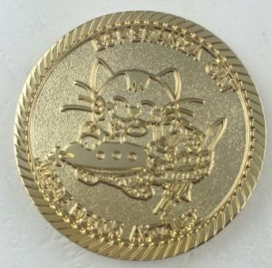 Esperanze Cat Coin with Golden Finishing (GZHY-Coin-003) pictures & photos