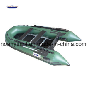 High Quality PVC Sport Speed Inflatable Boat with Plywood Floor pictures & photos