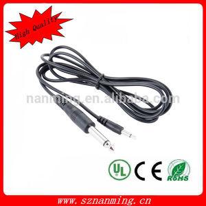 "3.5mm 1/8"" Mono Plug to 6.35mm 1/4"" Mono Plug Cable pictures & photos"