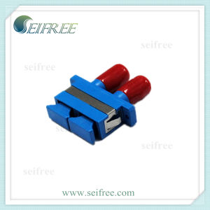 Sc-St Duplex Optical Fiber Cable Connector Adapter pictures & photos