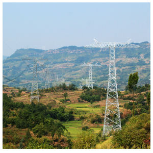 Double Circuits Angle Transmission Tower/Steel Structure