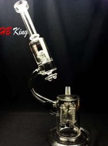 Hb-K2 Glass Microscope Water Smoking Pipe with Space Rocket Percolator pictures & photos