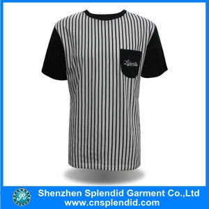 Wholesale Striped T Shirt Men Short Sleeve Fashion T-Shirt