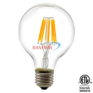 UL ETL 4W 6W 8W 10W Dimmable Edison Vintage Bulb LED Filament Light E27 G80