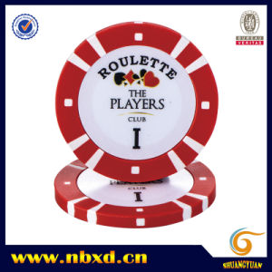 8g 2color Pure Clay Poker Chip with Customize Sticker pictures & photos
