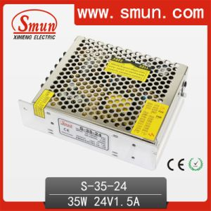 24VDC 35W AC DC Switching Mode Power Supply S-35-24 pictures & photos