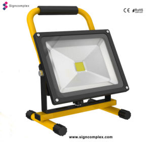 Shenzhen Energy-Saving COB LED Rechargeable Flood Lights pictures & photos