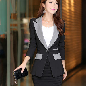 Fashion Slimming Plus Size Business Women Formal Suits (50020) pictures & photos