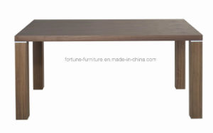 Simple Wooden Walnut Color Dining Table (6018) pictures & photos