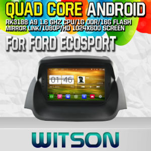 Witson S160 Car DVD GPS Player for Ford Ecosport with Rk3188 Quad Core HD 1024X600 Screen 16GB Flash 1080P WiFi 3G Front DVR DVB-T Mirror-Link Pip (W2-M232) pictures & photos