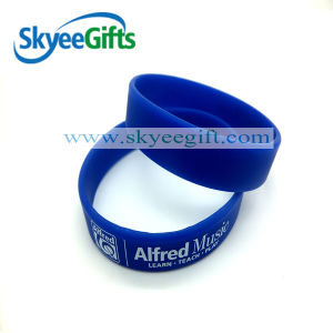 Printing White 1/2 Siliocne Bracelets pictures & photos