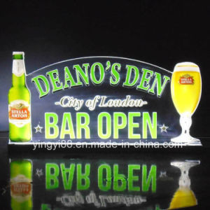 Light up LED Sign, Custom Home Bar Beer Neon Light Sign, Bar Open Sign pictures & photos