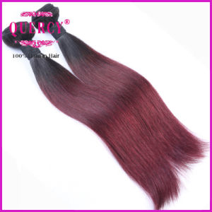 Omber Color Two Tone 1b Red Braziian Human Hair Weave Straight pictures & photos