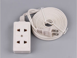 Three Gang ABS Cover Convenience Outlet with Three Meter Wire pictures & photos