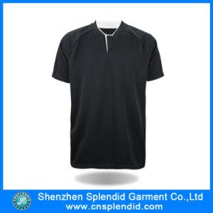 Fashion Custom Good Quality Men Black Plain T Shirts Made in China