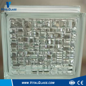 Certified Decorative Tempered Mosaic Patterned Glass Brick /Building Grade pictures & photos