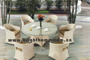 Hot Sale Patio Wicker Garden Dining Chair and Table pictures & photos
