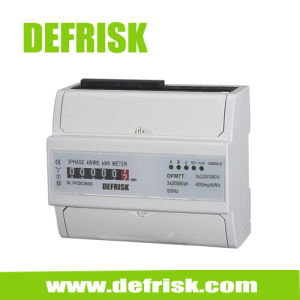 DIN Rail Mounted Three Phase Kwh Meter, Stardand Electric Energy Meter