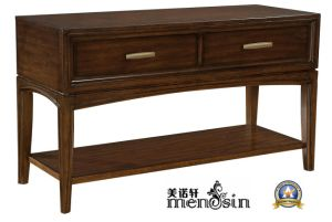 Antique 2 Drawer Wood Home Furniture Coffee Sofa Table