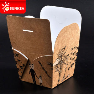 Custom Brand Printed Disposable Paper Bento Box pictures & photos
