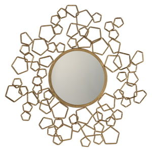 Creative Round Metal Framed Wall Decorative Mirror / Antique Gold Mirror Frame pictures & photos