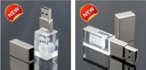 The Classical Crystal USB Flash Drive with 3D Logo pictures & photos