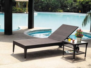 Luxury Design Relaxing Rattan Garden Outdoor Furniture Sunbed pictures & photos