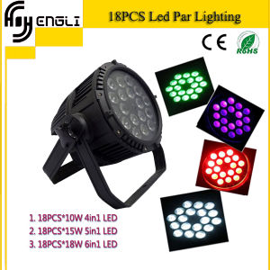 18PCS Outdoor Light LED PAR for Stage Lighting (HL-029) pictures & photos