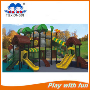Eco-Friendly Kids Theme Park Equipment with Plastic Slides pictures & photos