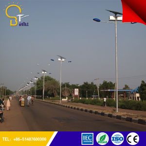 High Illumination 130-150lm/W Solar Street Light with Pole pictures & photos