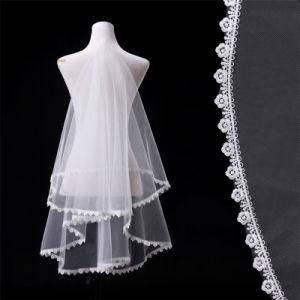 1.5 M Double Lace Bridal Veil Wedding Accessories pictures & photos