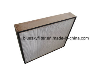 Wooden Frame Deep Pleat HEPA Air Filter pictures & photos
